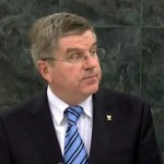 IOC President Dr. Thomas Bach addressing the UN General Assembly