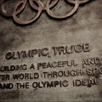 Olympic Truce monument in UN Headquarters, NY
