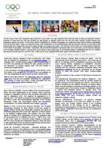 thumbnail of OSC Newsletter – No 31 – December 2015